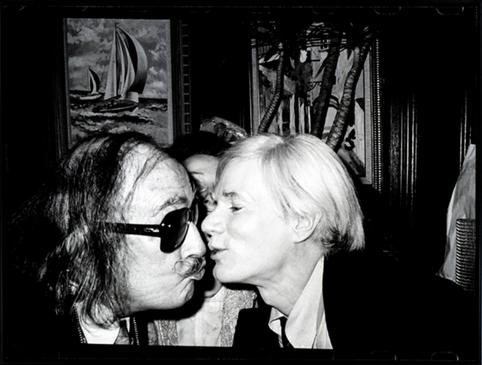 Andy Warhol Kissing Salvador Dali
