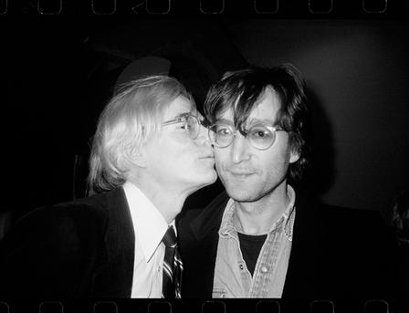 Andy Warhol Kissing John Lennon