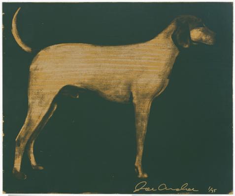 Medium Dog (Olive Green on Byzantine Gold)