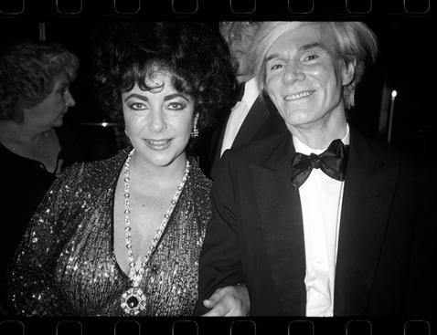 Andy Warhol with Elizabeth Taylor