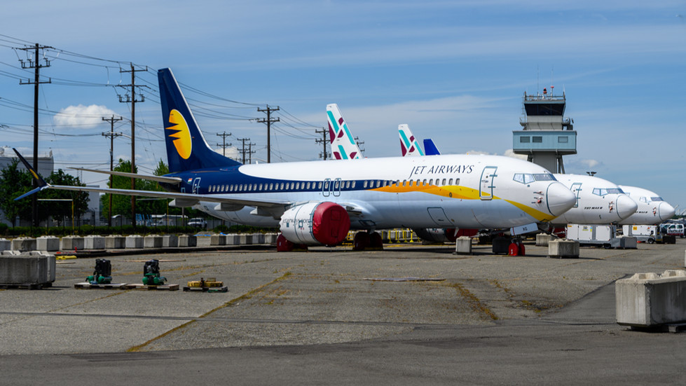 Parked Boeing 737 MAXs