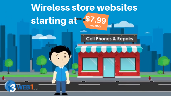 Wireless business websites starting at $7.99