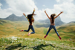Image of girls jumping
