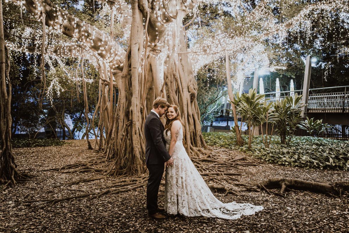 Brisbane city Botanical gardens Wedding