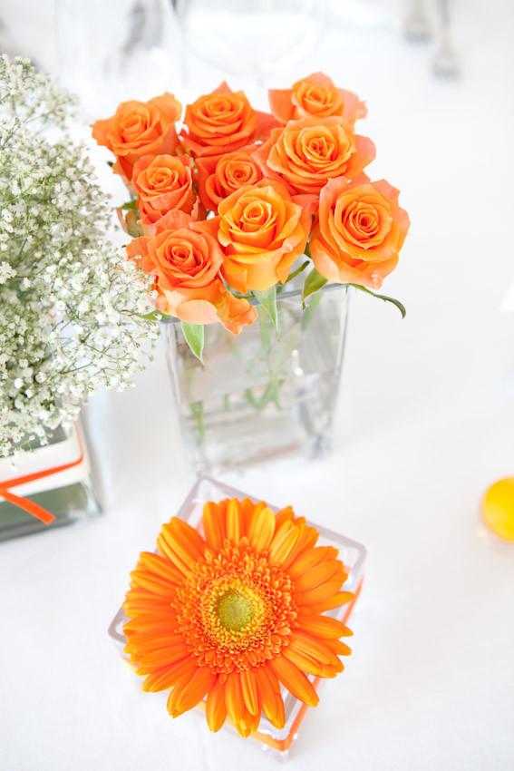 centrotavola arancione