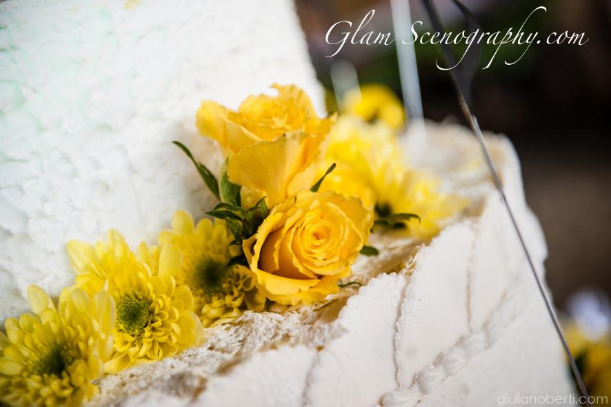 wedding cake per matrimonio giallo