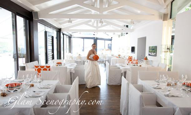 la sposa durante la sua prima visita in location