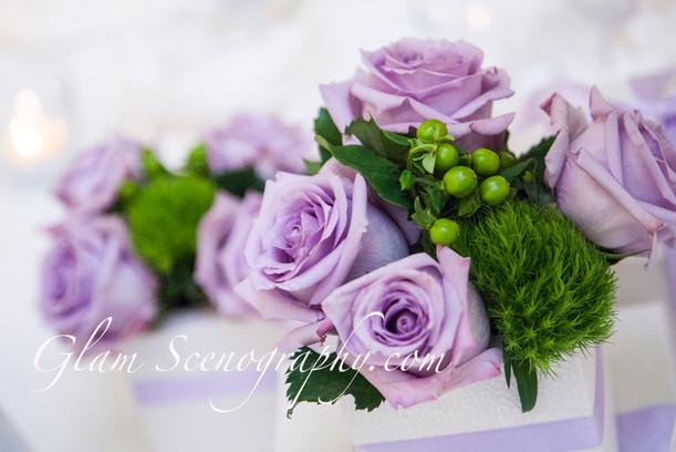 centrotavola lilla