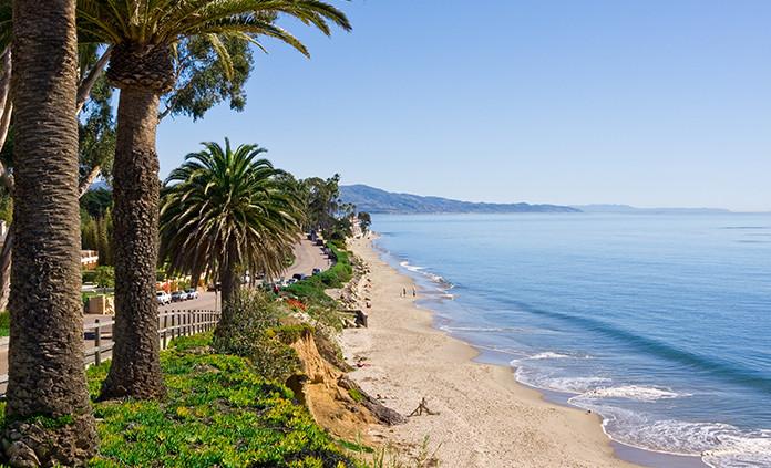 Pacific coast beach scene