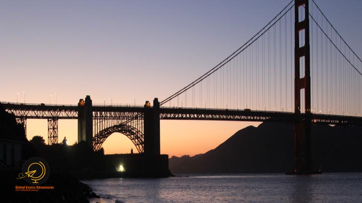 Sunset at Golden Gate Bridge, San Francisco