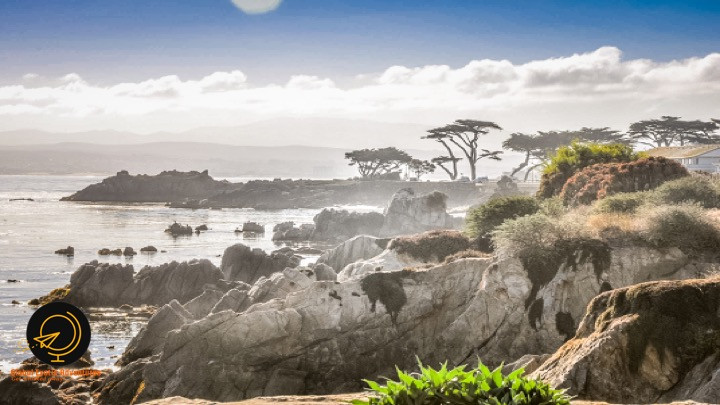 Lover's Point, Monterey Bay, rocky coastline
