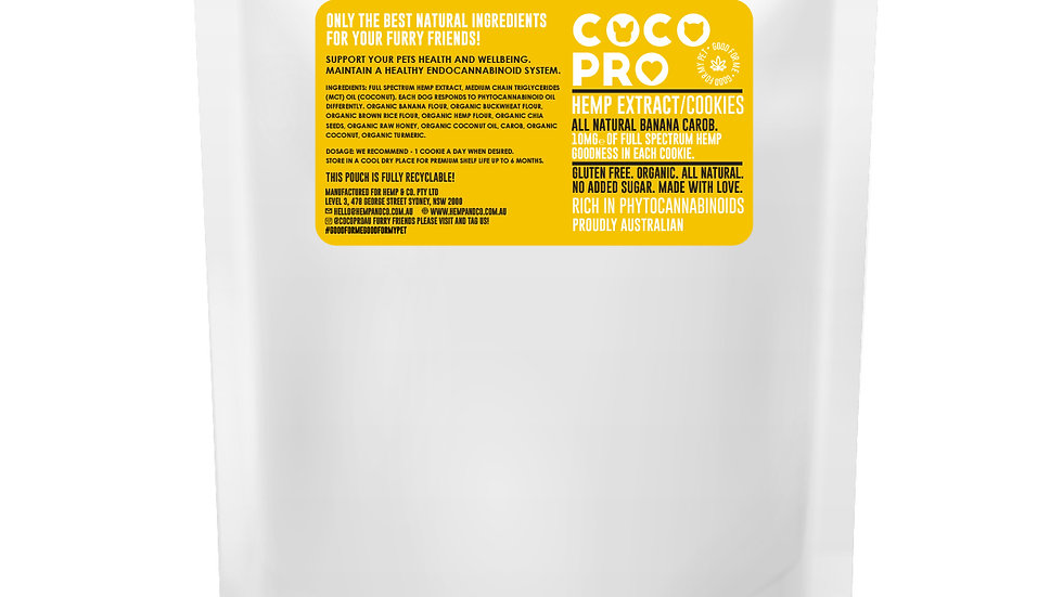 15 pack 150mg Full Spectrum Hemp & Honey Cookies