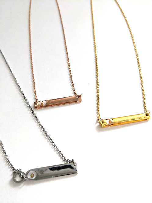 Mustard Seed Bar Necklace