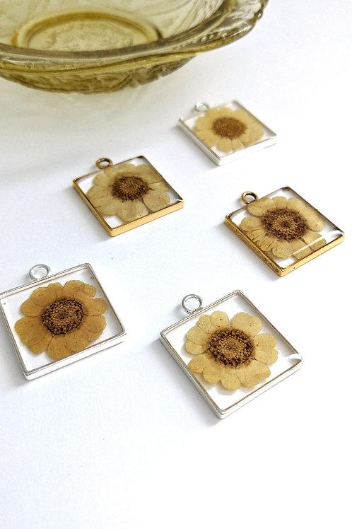 Burst Of Sunshine Pressed Flower Necklace