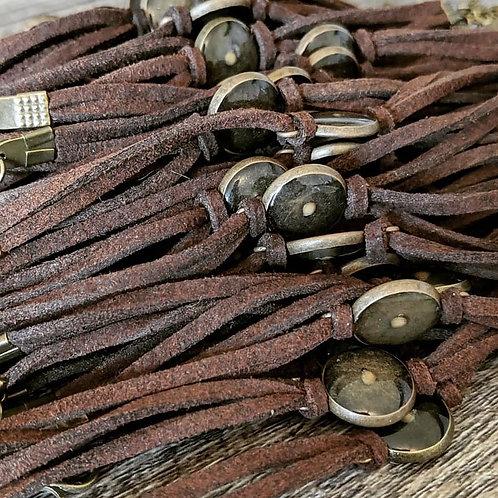 Mustard Seed Suede Bracelet