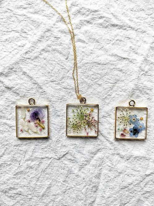 Garden of Faith Gold Square Necklace