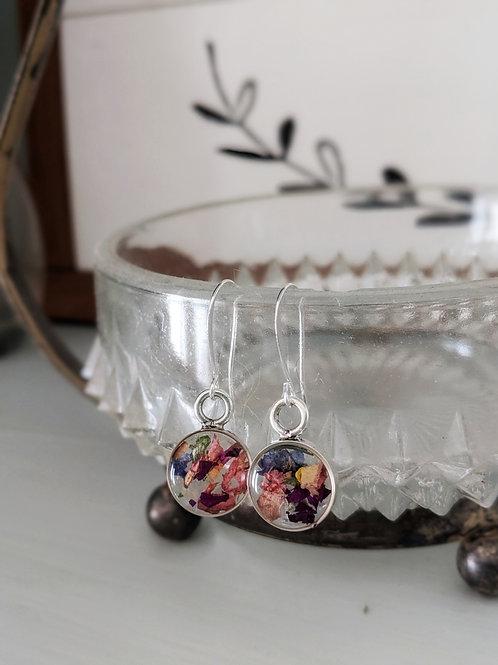 Custom Wedding Bouquet/Sentiment Earrings