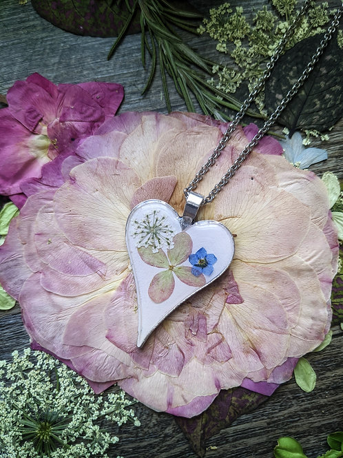 Garden Party Necklace - Large Heart