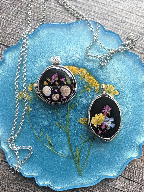 Nature Walk Artisan Silver Necklace