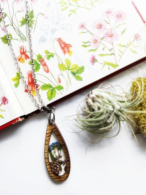 Small Garden Of Faith Wood Framed Necklace