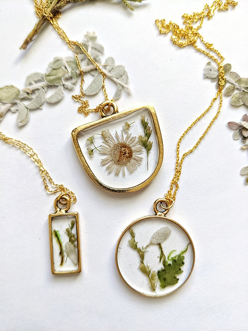 Gold Garden Terrarium Necklace