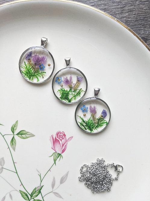 Moss Garden of Faith Necklace