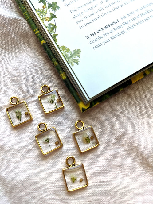 Farming By Faith Cotton Stem (Baby's Breath) and Mustard Seed Necklace