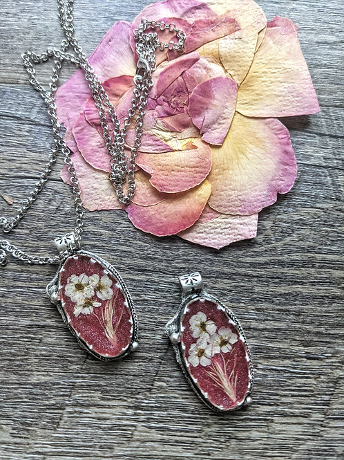 Cranberry and Cream Necklace