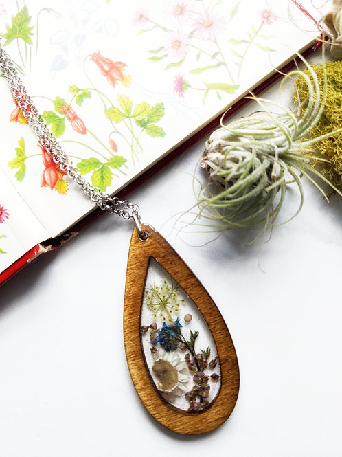 Large Garden Of Faith Wood Framed Necklace