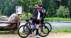 bike line Piave River