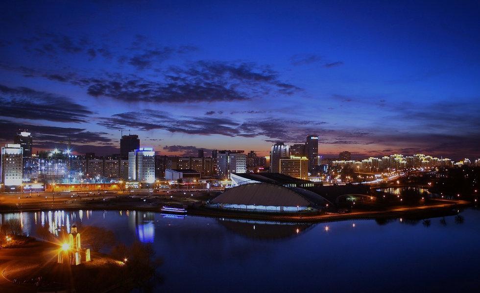 Ночной город Минск