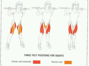 Cách đặt bàn chân khi squat giúp đùi thon