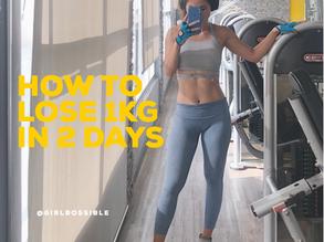 Làm sao để giảm 1 kg trong 2 ngày