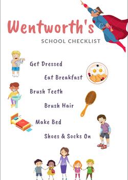 Boy Morning Checklist