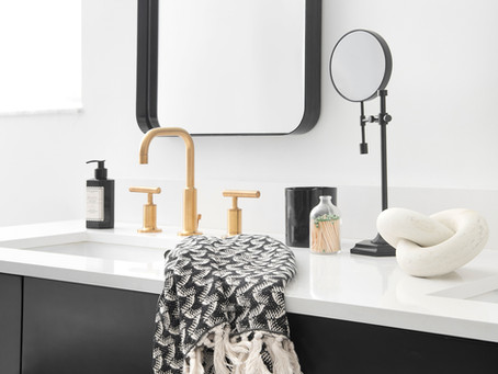 Project Reveal // Black and Bold Master Bathroom Transformation