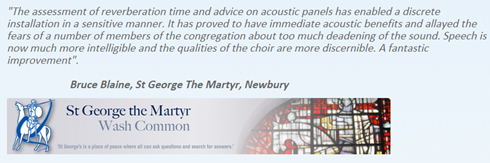 Quote from Bruce Blaine, St George The Martyr, Newbury