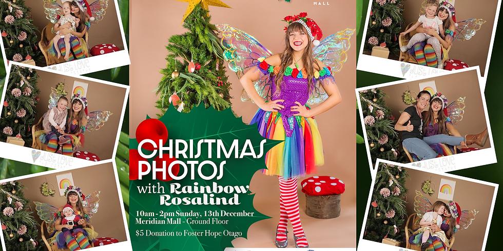 Christmas Photos with Rainbow Rosalind!