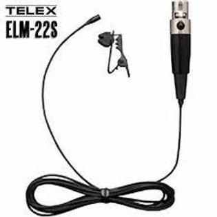Telex ELM-22S  Black Lapel Mic, Shure TA4F
