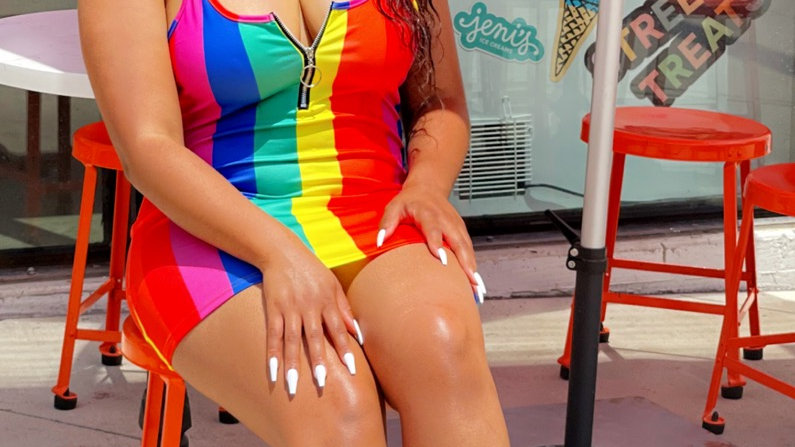 Rainbow Fitted Dress