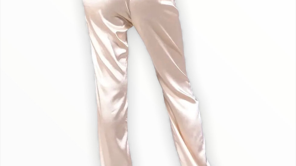 Champagne Satin Trousers