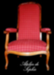 Réfection, restauration Fauteuil Voltaire restauré Indre et loire Tours Tapissier d'ameublement
