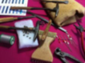 Mes outils, L' Atelier de Sophie, tapissier d'ameublement, Indre et Loire
