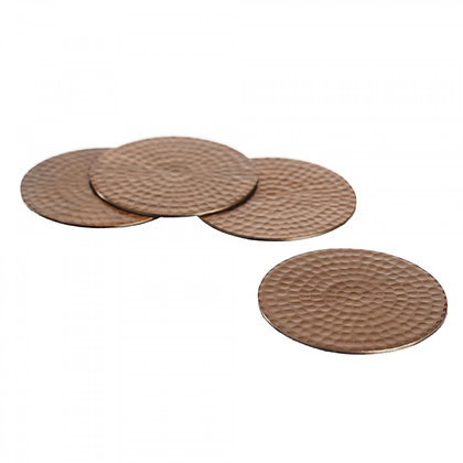 Just Slate Flat Hammered Copper Coasters (4 pieces)