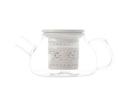 Lille Glass Teapot with infuser 700ML Grey