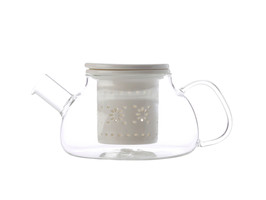 Lille Glass Teapot with infuser 700ML White
