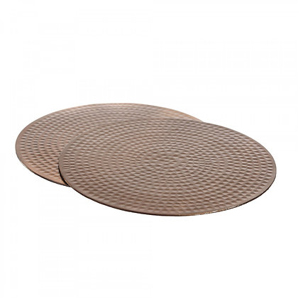 Just Slate Flat Hammered Copper Place Mats (2 pieces)