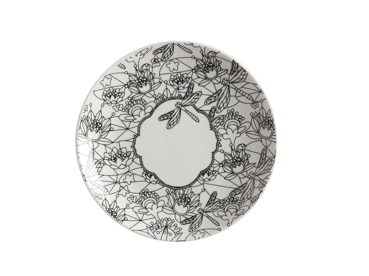 Mindfulness Messages Plate Dragonfly 19cm