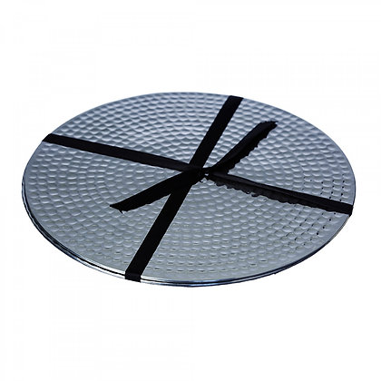 Just Slate Stainless Steel Flat Hammered Place Mats (2 pieces)