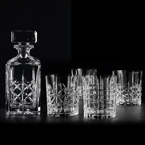 Nachtmann-Highland-Whisky-Set,-Dekanter-
