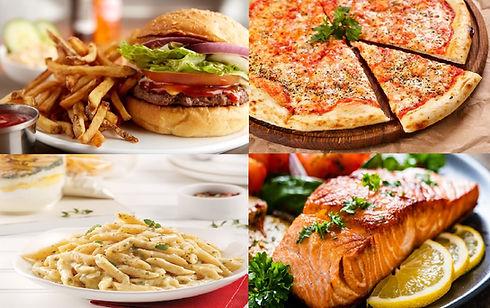BurgerFrites-pizza-pâtes-viande&poisson.